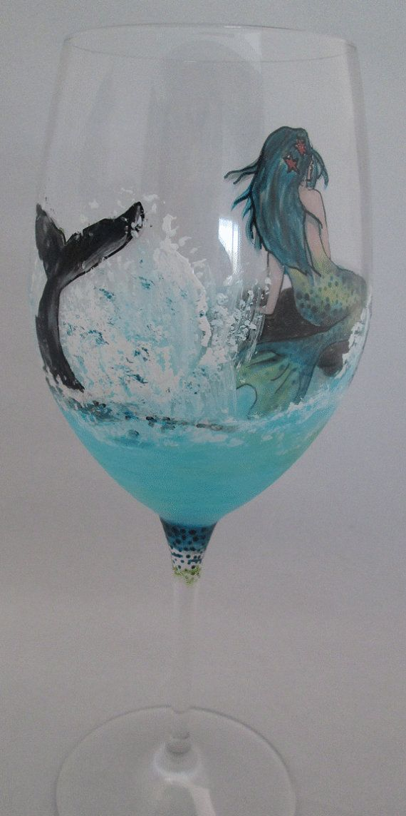 Best painted wine glasses images on pinterest