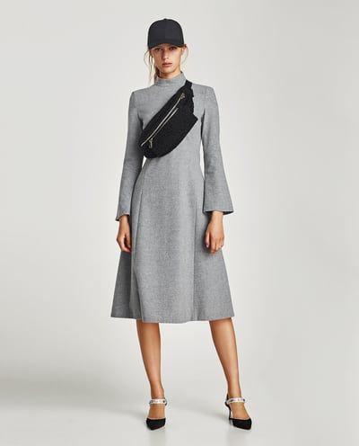 0139400b LONG SLEEVE MIDI DRESS-DRESSES | JUMPSUITS-SALE-WOMAN | ZARA United Kingdom