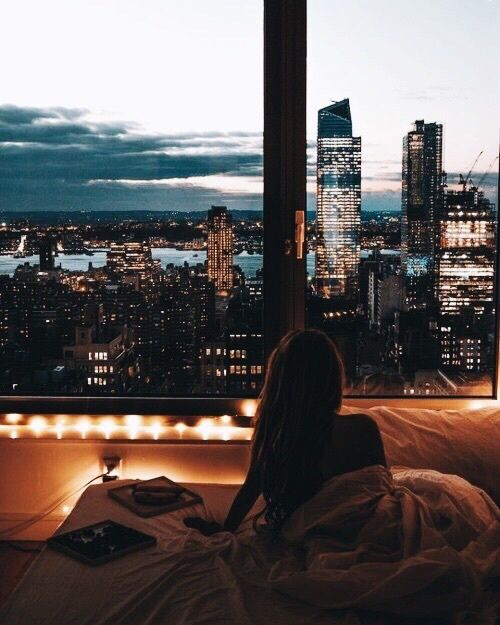 I can't help but think, as I see these beautiful apartment pics with a view and notice the people sleep just on a mattress, that the people who live there pay so much for the view they have no furniture