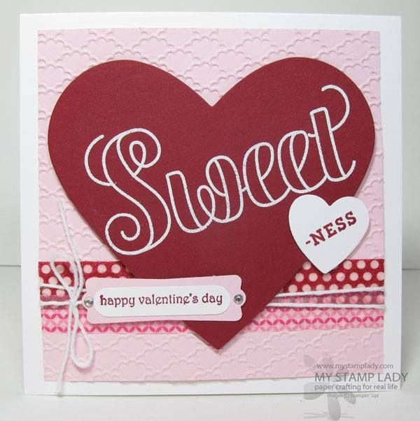 A square Valentine's Day card Stampin' Up! mystamplady
