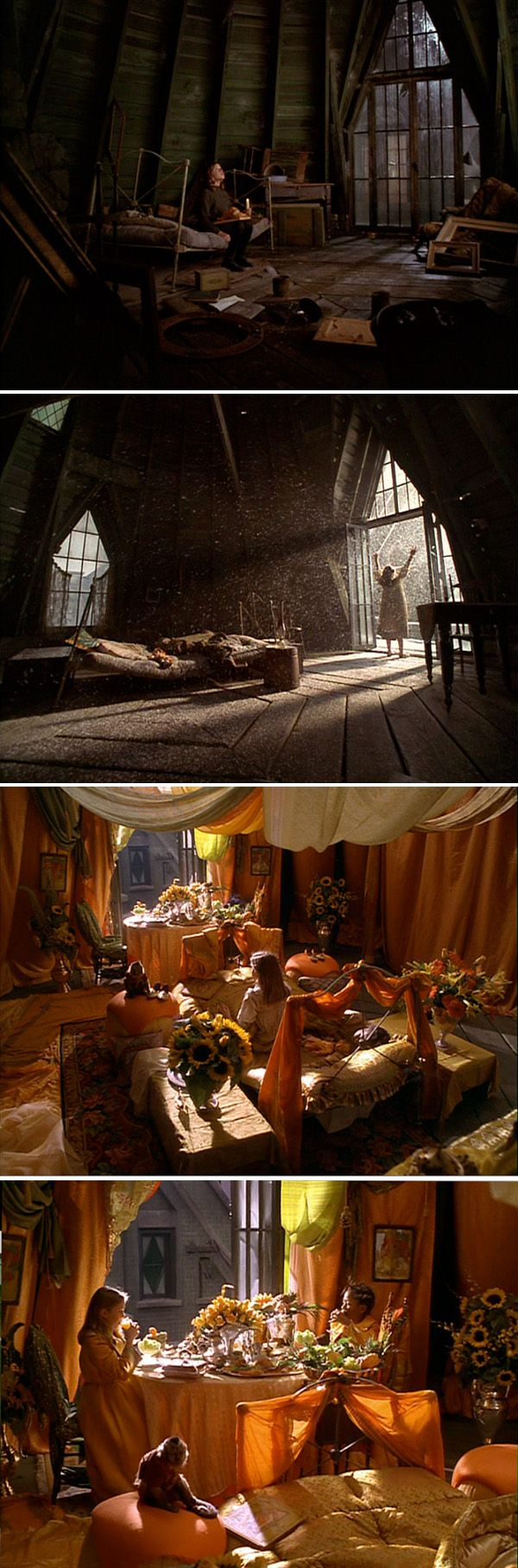 A Little Princess..production design bob welch, art director tom duffield, set decorator cheryl carasik (the team that brought you bettlejuice, edward scissorhands, and men in black.)