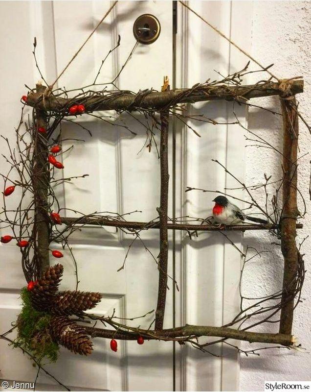 jul,juldekoration,julpyssel,julfönster,återbruk