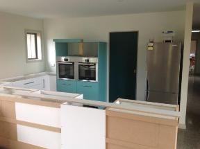 Kitchen underway awaiting granite bench tops