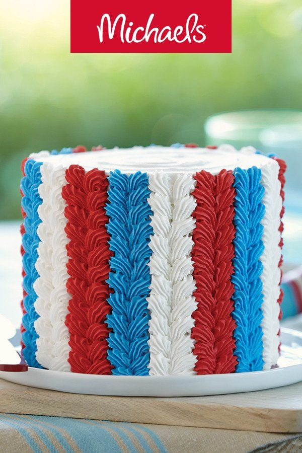Make This Inspired Independence Easy Layers Cake Project It Is A Sweet Treat Baking Craft To Celebrate Fourt Fourth Of July Cakes Cake Pan Set 4th Of July Cake