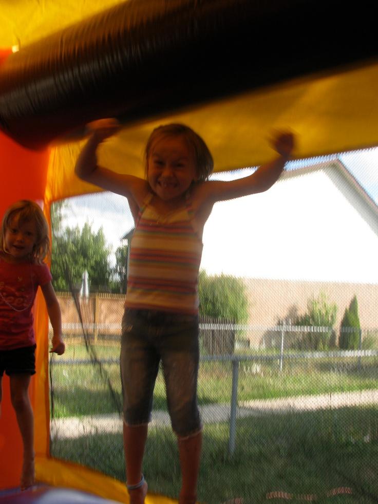 Kids enjoy playing on a Jumpy Thing