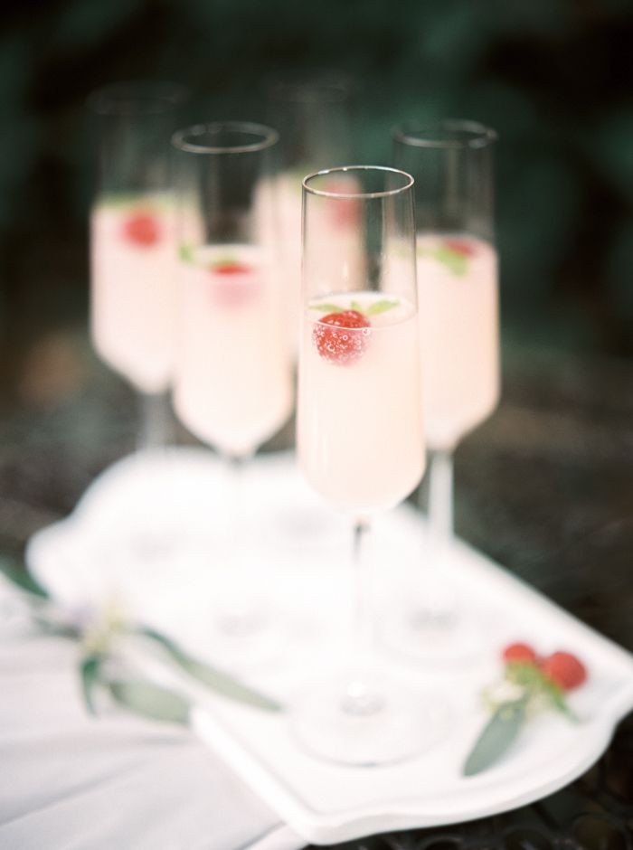 Raspberry and Champagne Cocktails