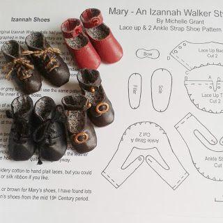 Reproduction Izannah Walker Doll Shoes