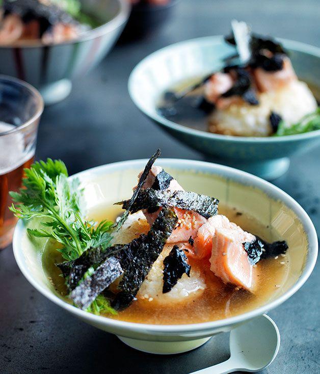 Ochazuke with ocean trout and nori recipe | Japanese recipe | Gourmet Traveller recipe - Gourmet Traveller