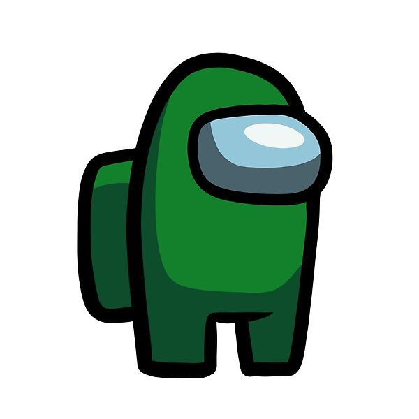 Among Us Dark Green By Digitaljuliart Redbubble Dark Green Aesthetic Green Characters Green Sticker