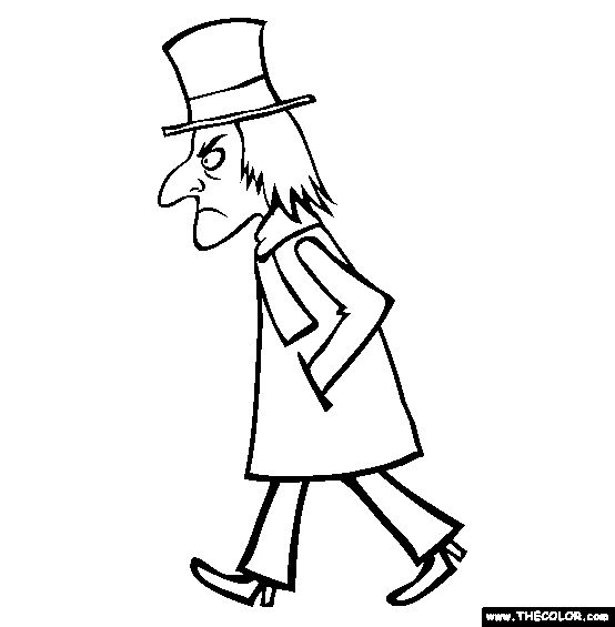 Scrooge Christmas Carol Coloring Pages Free: 18 Best Scrooge Mcduck Coloring Pages Images On Pinterest