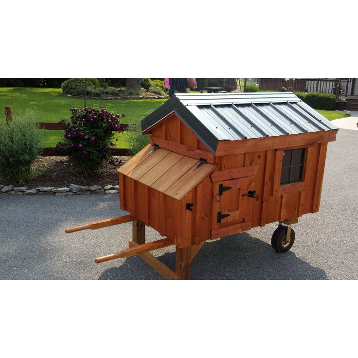 Tucker's Coops Wheelbarrow A-Frame Handcrafted Pre-assembled Solid Wood Chicken Coop