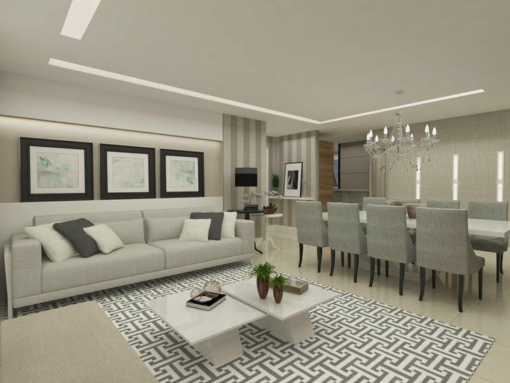 Living/ Dinning room apartamento J|G - projeto Rubatino Arquitetura.  #living #dinner #interiordesign