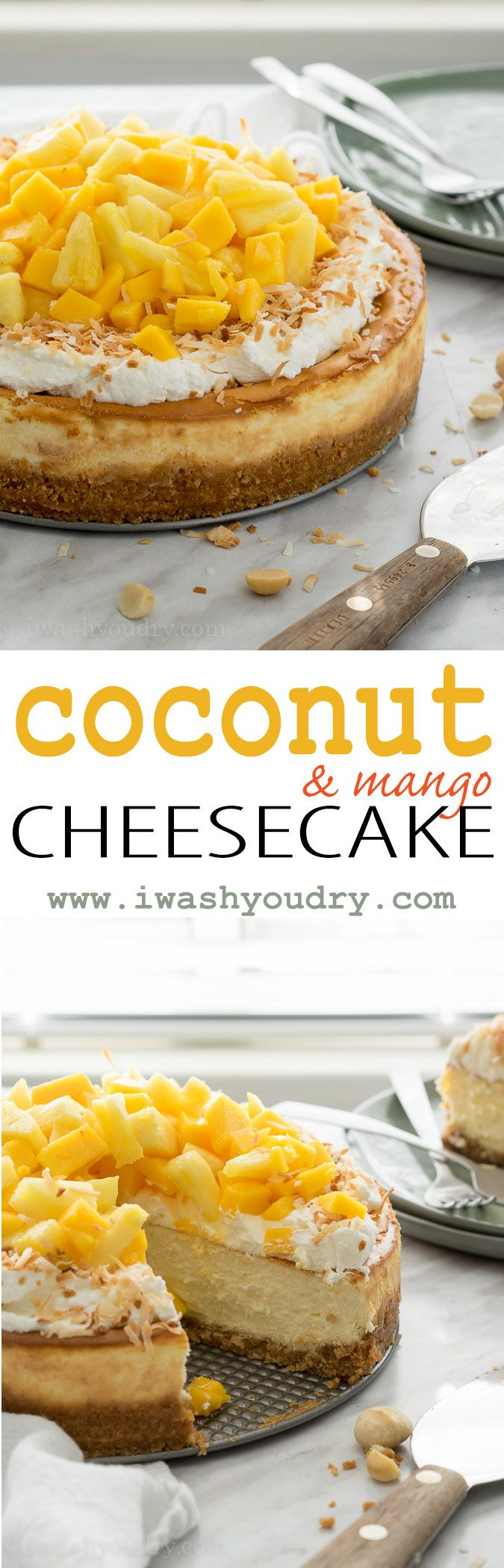 The texture of this Coconut Cheesecake is light and fluffy, but it's the secret ingredient in the crust that really makes this one shine!