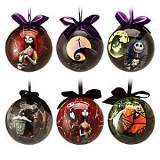 Ensemble de 6 boules de Noël L'Étrange Noël de Monsieur Jack