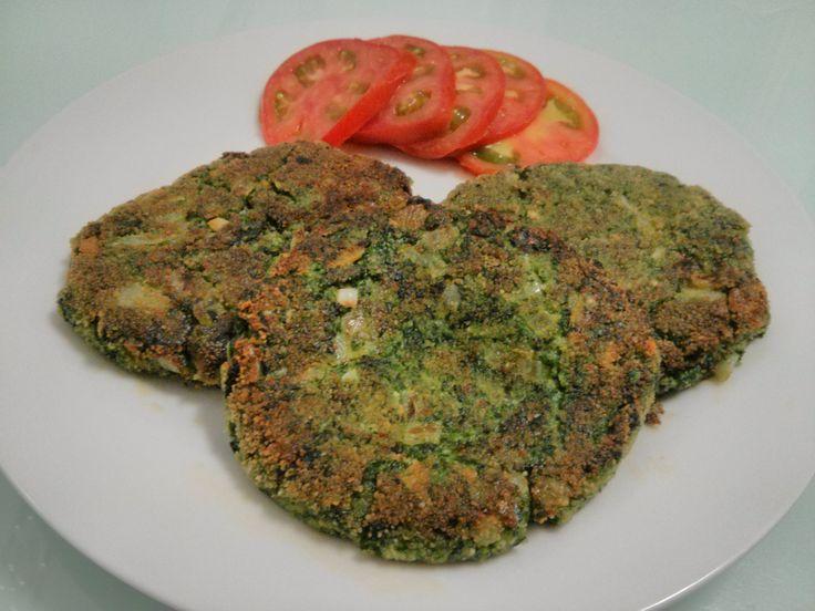 Hamburguesas Vegetarianas de Espinacas