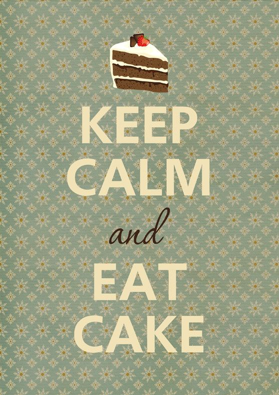 Keep calm and eat cake by Agadart on Etsy
