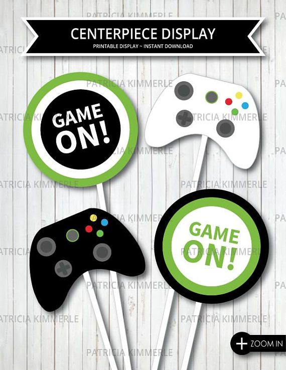 PS4 Controller 10th Birthday Banner x 2 Party Decorations Girls Boys ANY NAME