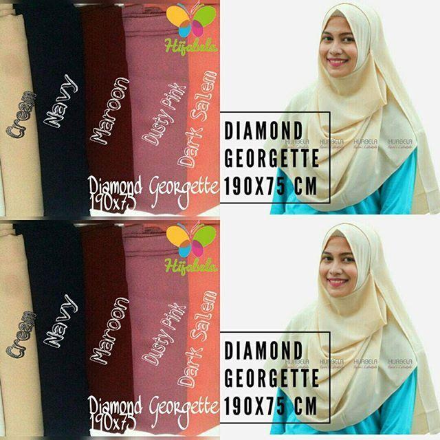 Ready Stock Update !  #pashminainstan diamond georgette ini membuat pemakainya terlihat elegan  Karena bahan stretchnya bikin pas dengan wajah dan jatuh saat dipakai  #recomended deh!  Order bisa via Line@ link di bio atau WA 081298069833  #pashminainstant #pashminaterbaru2016 #hijabpashmina #hijabhitsindo #hijabkekinian