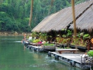 Jungle-Raft, riviere Kwai – Thailande