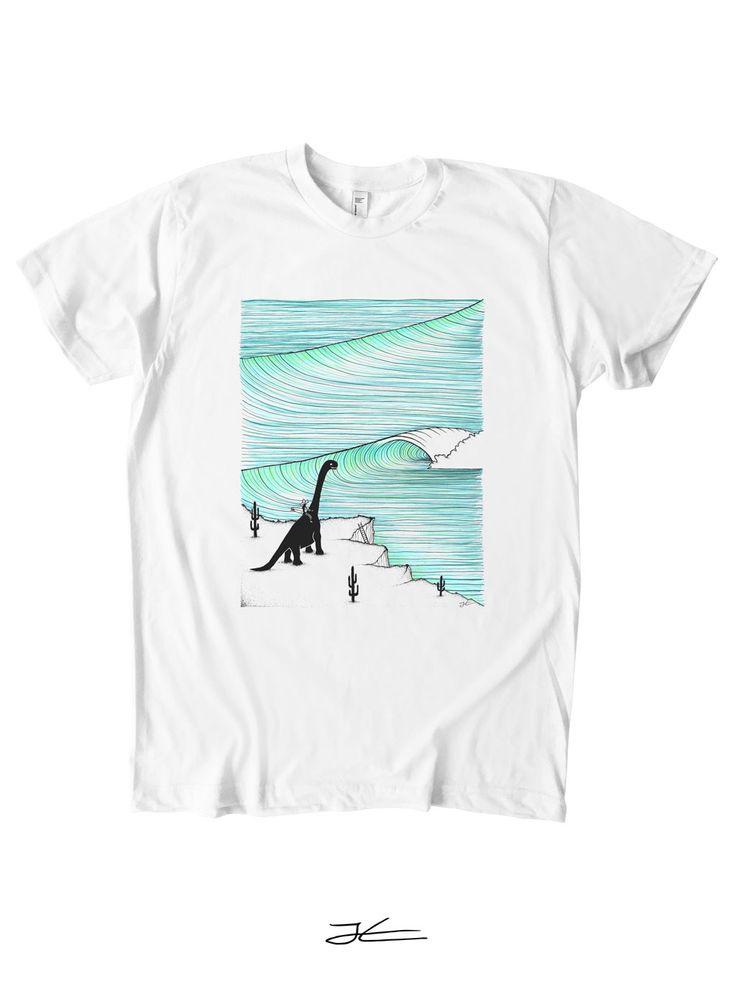 Surf Check T-Shirt - White/ XL/ Men's -SALE