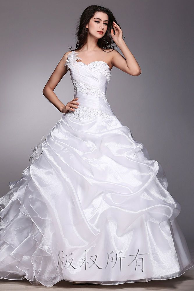New White/ivory Wedding dress Bridal Gown custom size 6-8-10-12-14-16 #Unbranded #BallGown #Formal