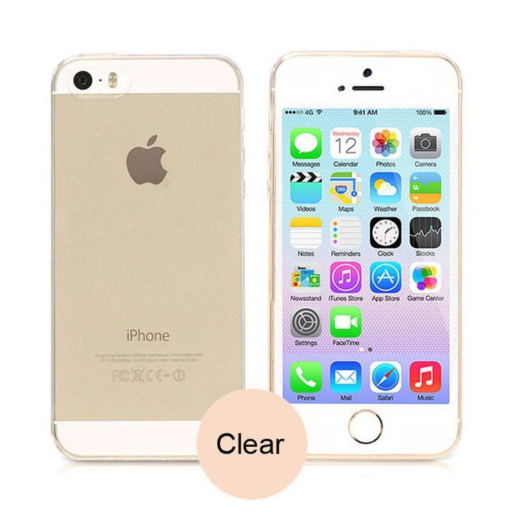Transparent Silicone Case For iPhone 5 5S SE Ultra Thin 0.3MM Soft Clear TPU Phone Back Cover For iPhone 5 5S 5SE