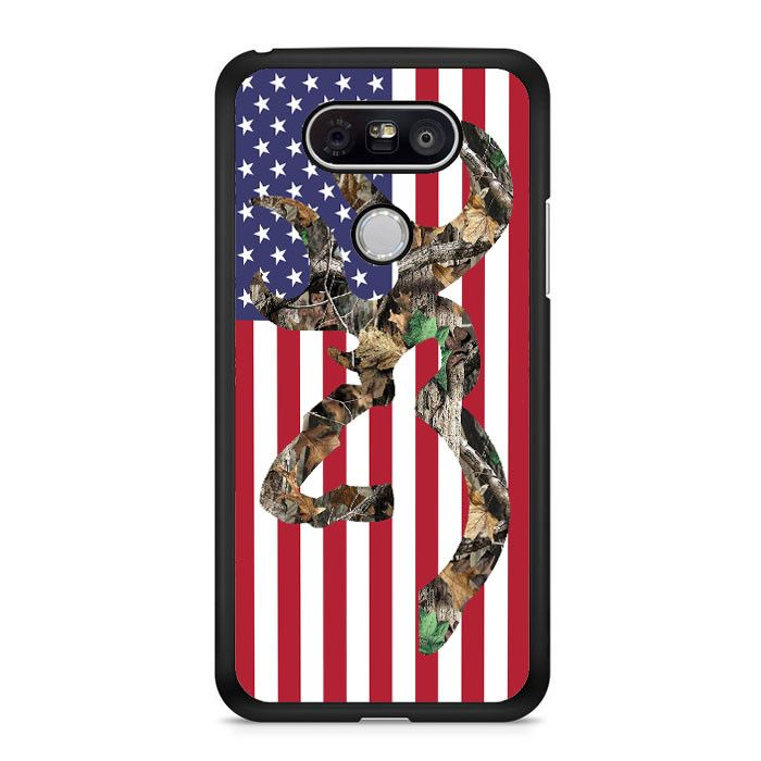 Browning Deer Camo American Flag LG G5 Case Dewantary
