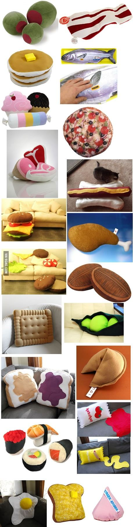 Food Pillows my favorite.