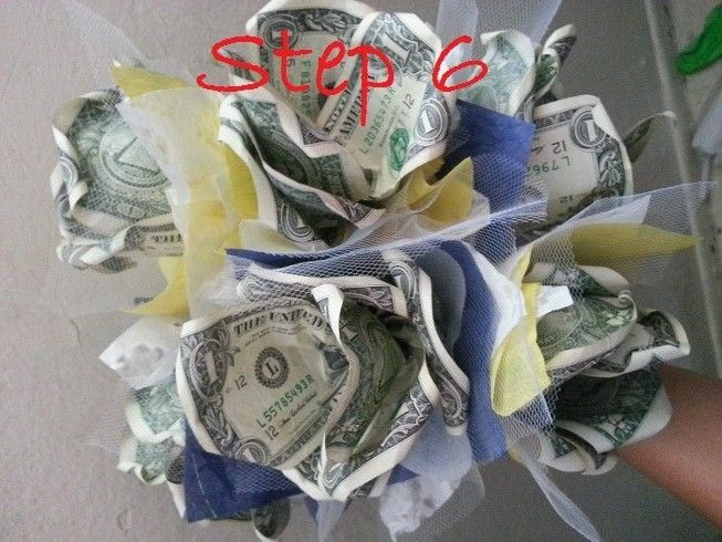 11 best How to make a money flower bouquet images on Pinterest ...