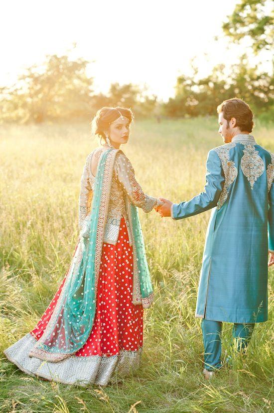 Wedding Engagement photo shoot from South Asian Bride Magazine