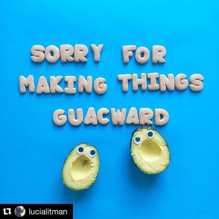 Haha my new favourite Instagram account @lucialitman - puns & avocado art!! #giggles #happytuesday #findthefunny