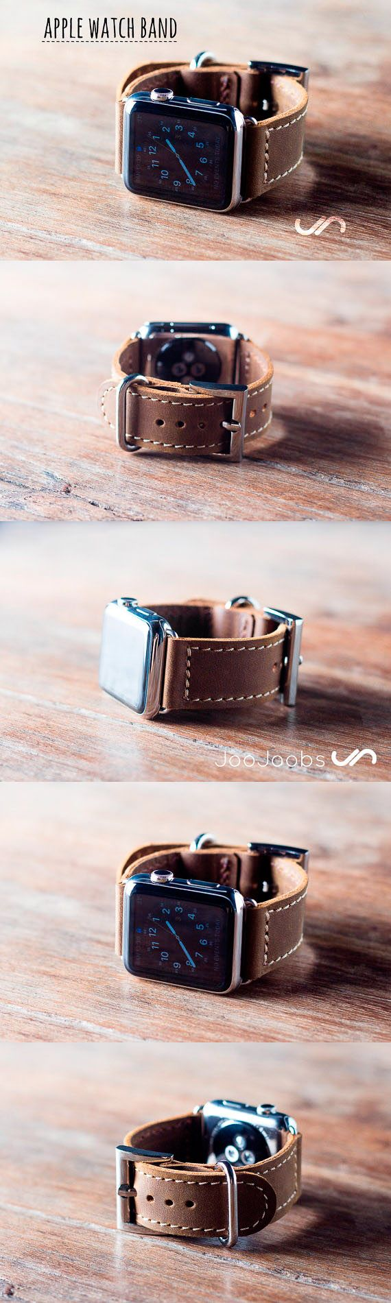 The JooJoobs Apple Watch Strap is handmade from full grain distressed leather. Lets us fulfill your wearable technology needs with style and quality that will last a lifetime.