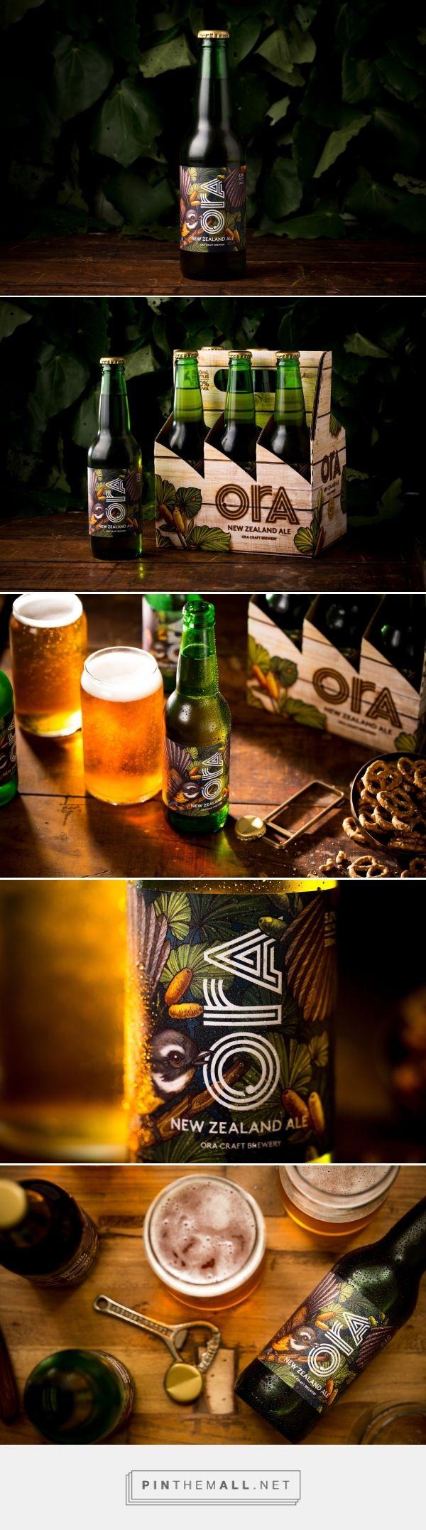 Ora - New Zealand Ale packaging design by Monique Robins - http://www.packagingoftheworld.com/2017/09/ora-ale.html