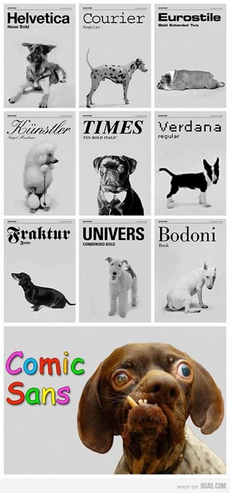 Typography Dogs. I couldn't help but laugh when I got to the last one! Yikes!