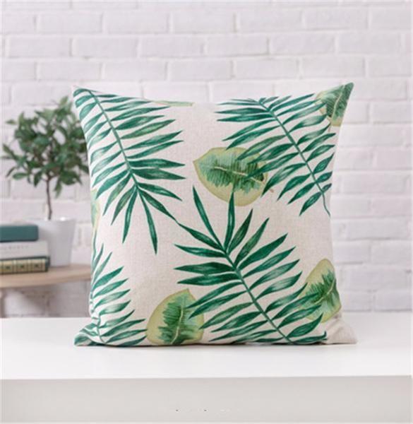 Tropical Pillow Cushion Case Cover