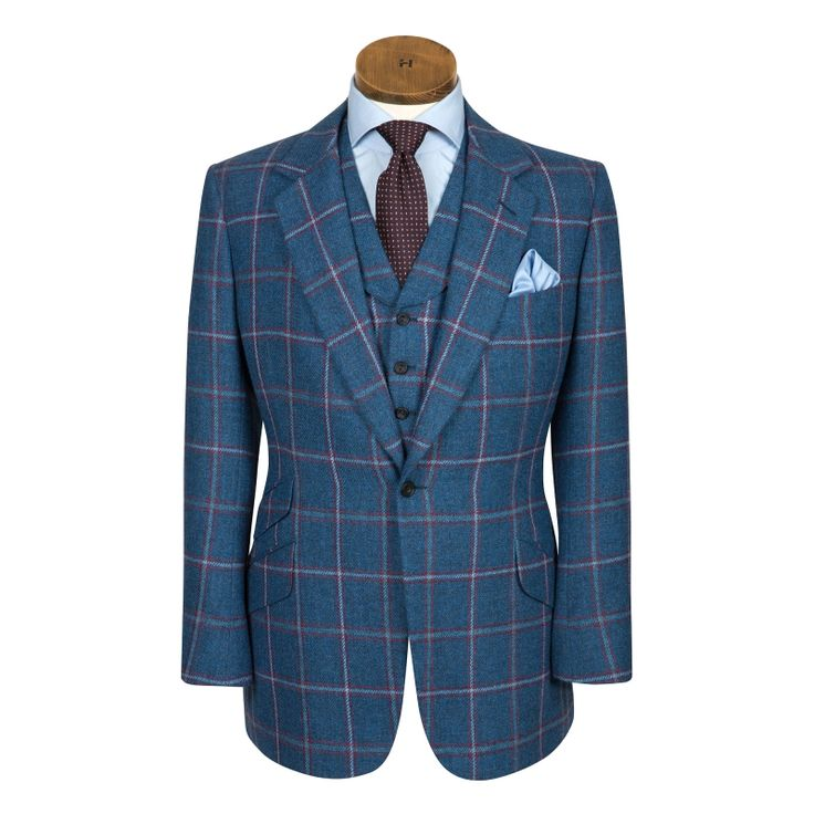 I love oversized checks and this color, really into blues right now New Men's Bespoke