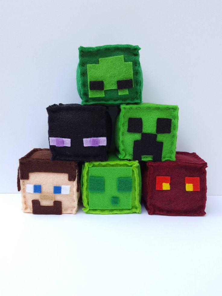 Minecraft 6pk Party Favor Bundle, Party Favor, minecraft plush, stuffed plush, minecraft birthday, minecraft party favor, MTO by PlushiesbyRenee on Etsy https://www.etsy.com/listing/548399519/minecraft-6pk-party-favor-bundle-party