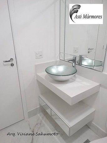 asti-marmores | Banheiros Lavatório em Branco Prime