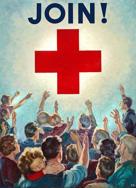 Join the red cross! #vintage #ad #propaganda