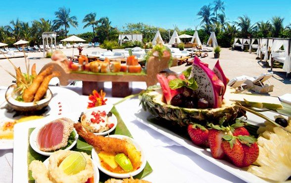 Nikki Beach Miami exquisite Food.  Enjoy it today! Lunch and dinner.  For table reservations please email  reservations.miami@nikkibeach.com