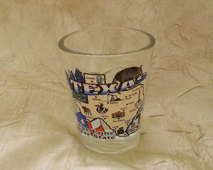 Texas Souvenir Shot Glass The Lone Star State with Cities