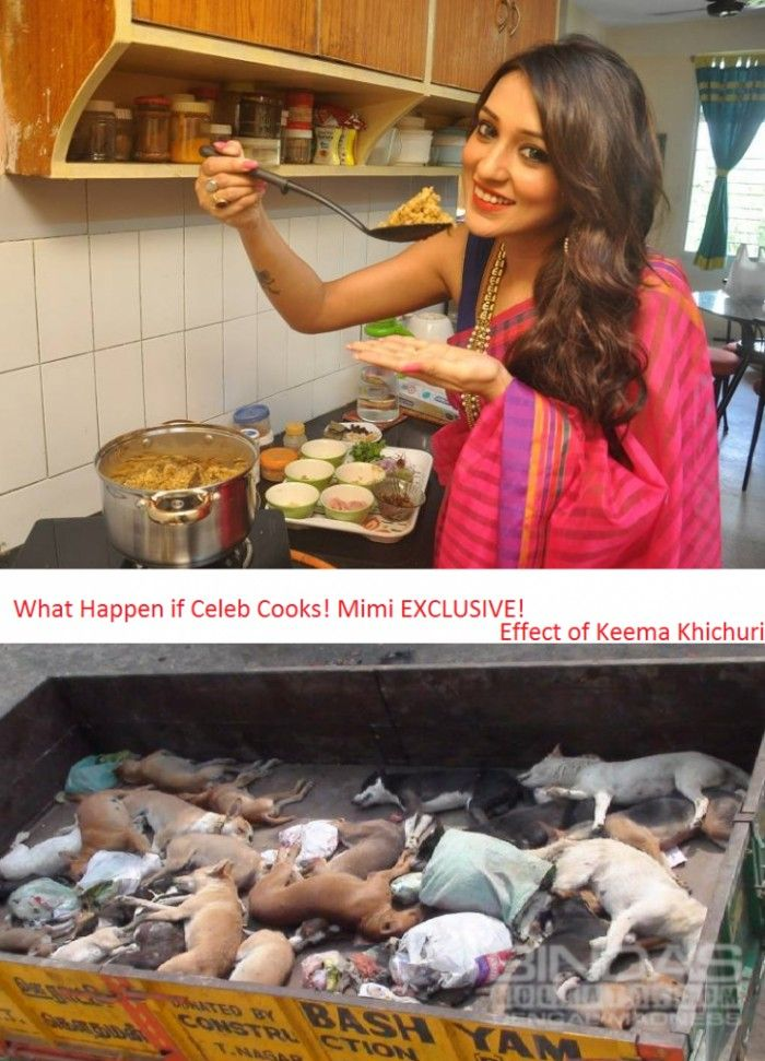 Celeb Shouldn't Cooks! This is the Effect of Keema Khichuri coocked by Mimi chakraborty