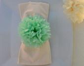 Tissue paper flower napkins