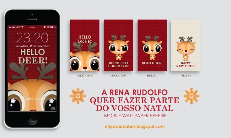 Freebie xmas wallpaper reindeer