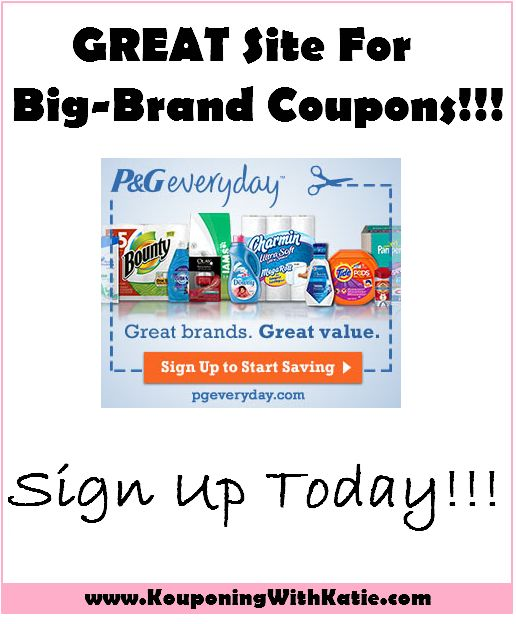 NEW TIDE COUPONS!!! P&G Everyday: GREAT For Coupons and Samples!! | KouponingWithKatie