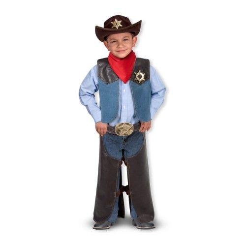 Déguisement cowboy 3-6 ans Melissa and Doug pour enfant de 3 ans à 6 ans - Oxybul éveil et jeux