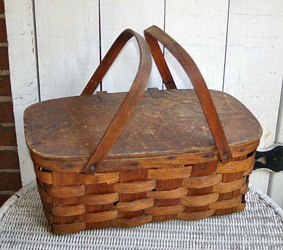 Hey, I found this really awesome Etsy listing at http://www.etsy.com/listing/156246021/split-oak-picnic-basket-wood-basket-old-i hv 1!