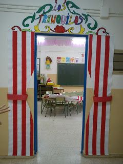 Decorating my classroom door: La Feria de Abril