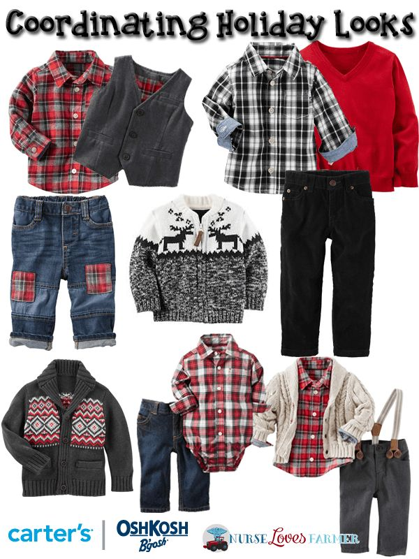Coordinating holiday looks for boys from Carter's | OshKosh Canada! #CartersOshKosh #Kidsentials