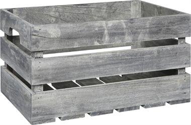 Förvaringsbox trä grå 26x41cm